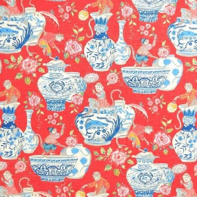 Waverly Monkey Jars Fiesta Fabric