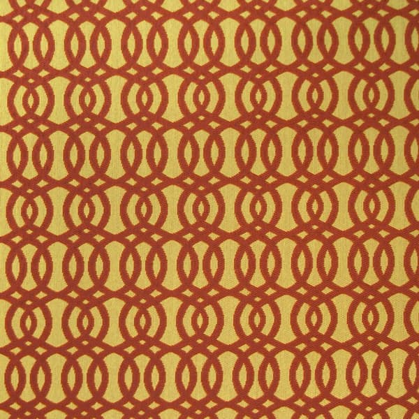 Red and Gold Upholstery Herringbone Fabric