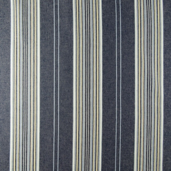 Denim Navy Stripe Upholstery Fabric