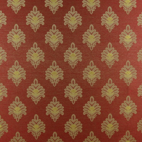Newport Red Gold Icon Upholstery Fabric On Sale 1502 Fabrics