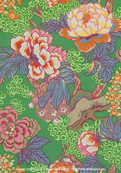 Honshu green fabric