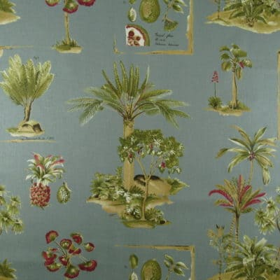 Duralee Paradise Palms Loden Fabric