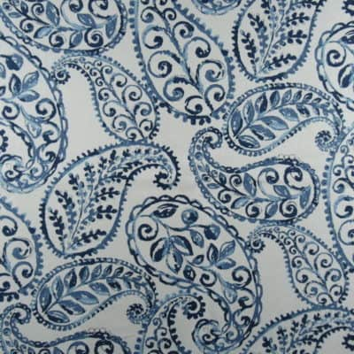 Jennifer Adams Home Bloomfield 50 Bluebell Paisley Fabric