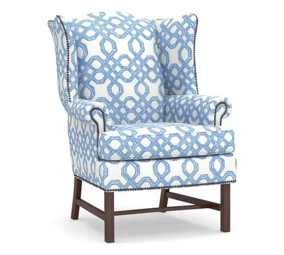 Lilly Pulitzer Upholstered Wing Chair