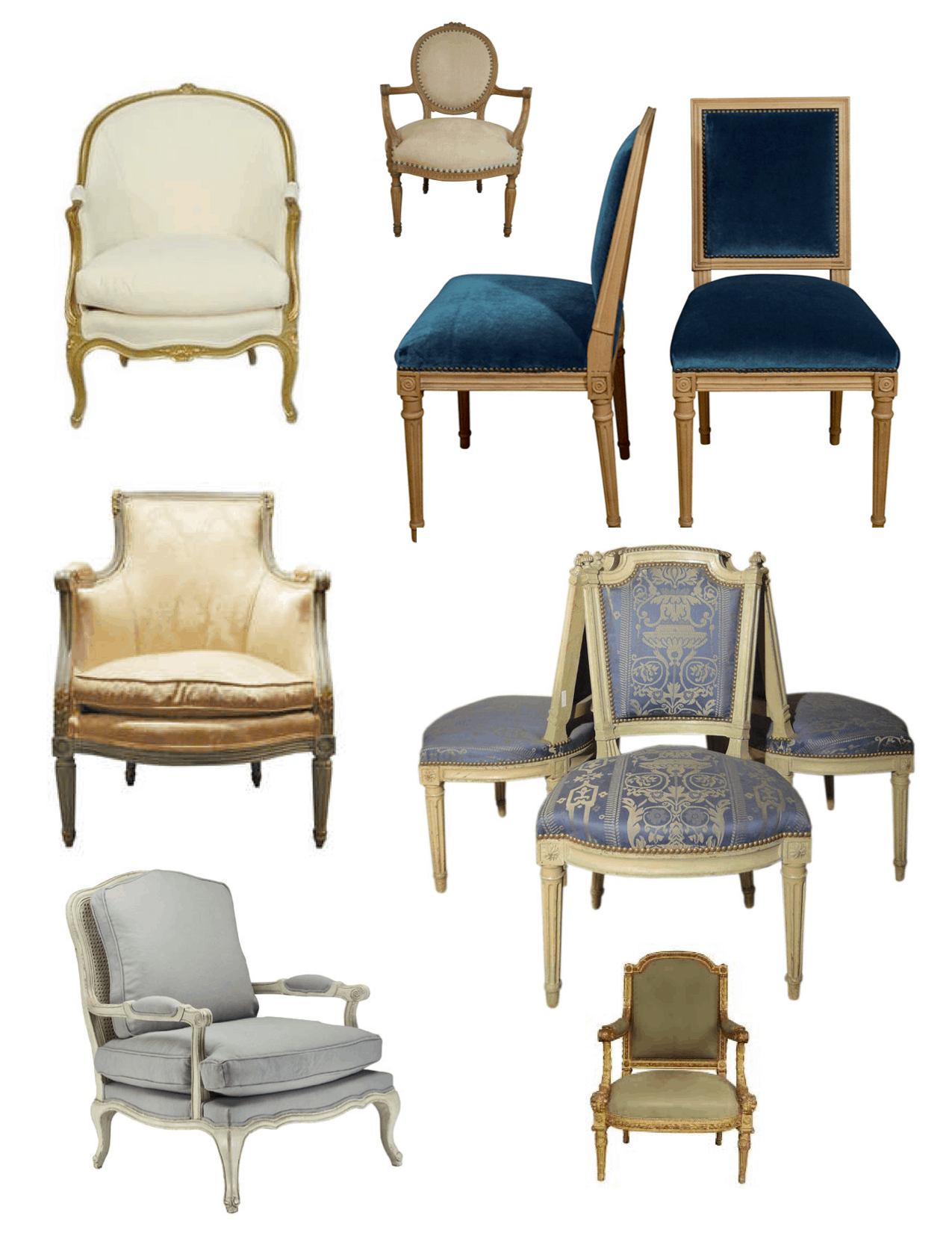 Louis Style Arm Chairs