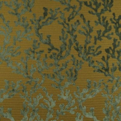 Coral Reef Celadon Fabric