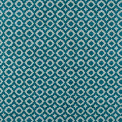 Macon Turquoise Cotton Linen Blend Fabric