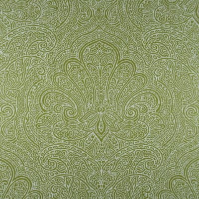 Paisley Damask Spring Green Fabric